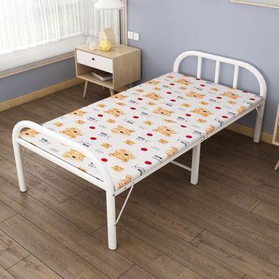 家用单双人便携折叠床办公室出租房铁艺午休床简易大人躺椅沙发床