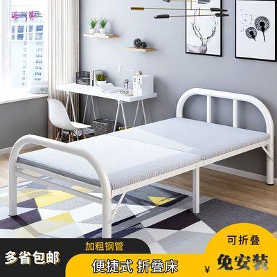 折叠床单人床双人家用简易便携医院陪护出租房铁架木板床1.2米拆