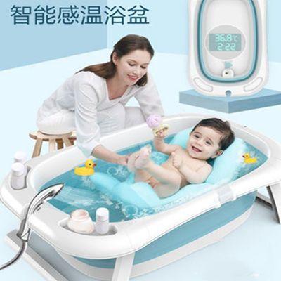 婴儿折叠浴盆儿童洗澡盆宝宝家用新生儿用品小孩可坐躺大号泡澡盆