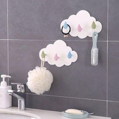 朵强力粘胶多功能挂钩壁挂免钉门后挂衣钩浴室墙壁无痕粘钩卡通云