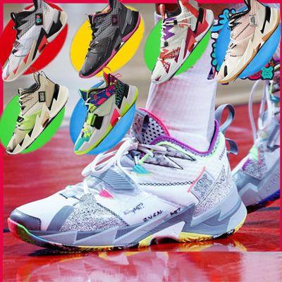 新款威少3代篮球鞋全明星雪花珊瑚粉卡其绿男女气垫运动鞋
