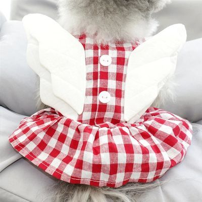 小天使狗狗公主宠物裙子泰迪比熊贵宾博美约克夏雪纳瑞小型犬衣服