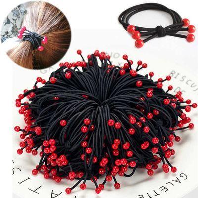 皮筋编织头绳网红发绳发饰韩版无缝发圈头花头饰高弹力加粗扎头橡