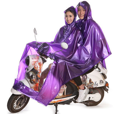 电动车摩托车单人双人成人雨衣加大加厚电瓶车自行车男女雨披雨具