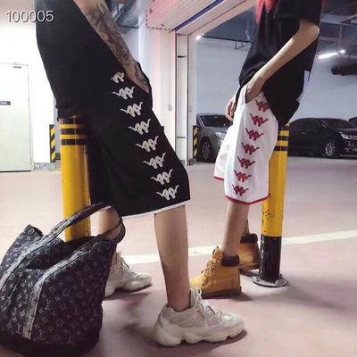 新款kapa背靠背五分裤男女潮派运动休闲直筒经典刺绣情侣串标短裤
