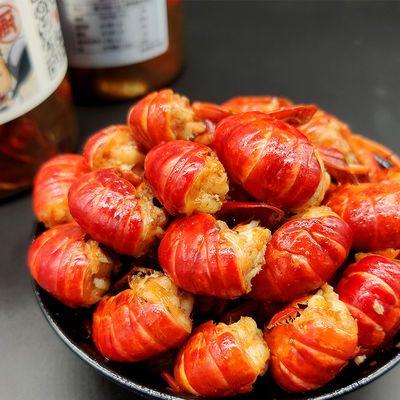 【促销】麻辣龙虾尾小龙虾蒜蓉味虾球熟食即食香辣小海鲜新鲜现做