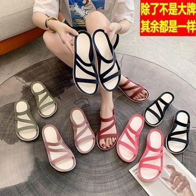 新款平底凉拖鞋凉鞋拖鞋女夏外穿水晶果冻软底孕妇防滑海边沙滩鞋