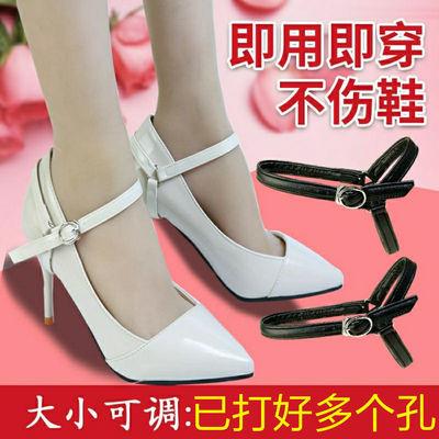 免安装鞋带皮鞋高跟鞋不跟脚防掉跟三角鞋带隐形绑鞋扣女拖鞋凉鞋