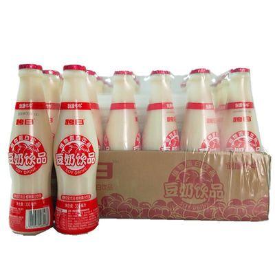 【促销】创康跨日豆奶饮品原味麦香330ml 24瓶整箱早餐奶豆浆植物