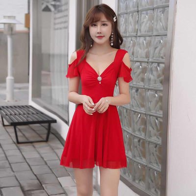 遮肚显瘦包臀连衣裙夜店性感工装主播服装女性感新款大码A字裙