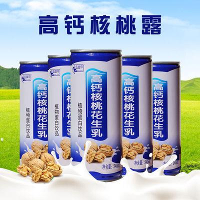 高钙核桃露新鲜压榨240*16罐新日期新货整箱装核桃乳核桃汁高品质