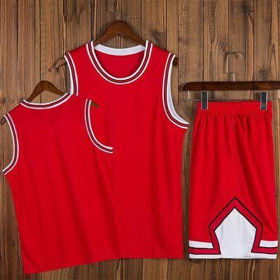 公牛队球衣套装男女篮球服背心比赛训练队服定制团购球服印字印号