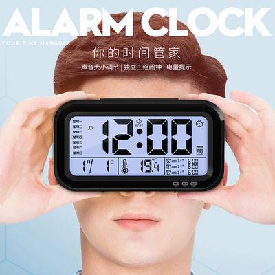 【 送电池 】电子闹钟学生静音创意儿童简约宿舍夜光智能可爱闹钟