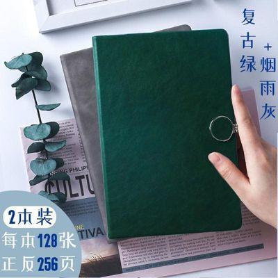 简约文艺ins风复古精致笔记本子大学生日记唯美加厚硬皮记事少女