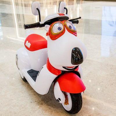 儿童电动摩托车可坐人男宝宝幼儿小孩三轮车充电遥控玩具电瓶童车