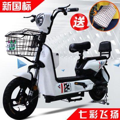 七彩飞扬新国电动车带脚踏3C电动自行车新款成人电瓶车可上牌包邮