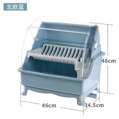 爆款厨房放碗筷收纳盒家用碗碟沥水碗架带盖装碗柜盘子餐具储物箱