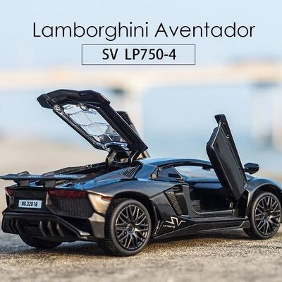 兰博基尼LP750合金车模开门回力儿童玩具车合金车仿真小汽车模型
