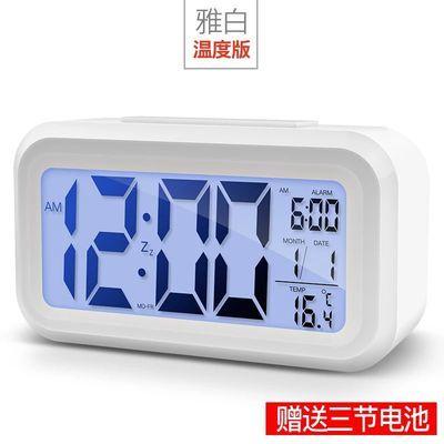 【夏】【送电池】学生创意闹钟智能儿童电子静音床头卧室夜光贪睡