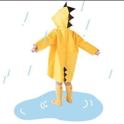 爆款小恐龙雨衣儿童小学生幼儿园男女小孩雨具卡通长款环保透气雨