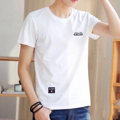 2020男士短袖t恤新款袖圆领夏季潮流宽松t恤衣服男装百搭修身韩版