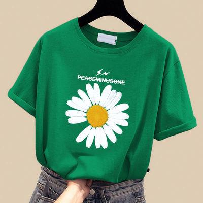 女装2020新款夏季韩版ins上衣宽松短袖t恤女加大码百搭学生T恤潮