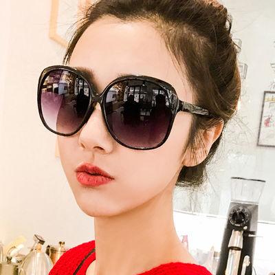 墨镜女潮2019新款太阳镜女大框时尚个性圆长脸遮阳防风复古眼镜