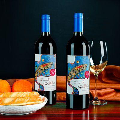 原瓶进口红酒法牛埃尔布干红葡萄酒送礼750ml一支装正品
