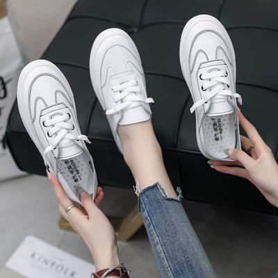 浅口单鞋小白鞋女2019新款夏季韩版百搭平底鞋子ins潮鞋学生板鞋