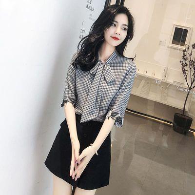 雪纺衬衫短袖很仙的上衣洋气衬衣夏装流行超仙春季女装2020新款潮