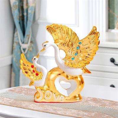 天鹅摆件花瓶家居装饰品电视柜酒柜客厅结婚礼物乔迁创意房间摆设