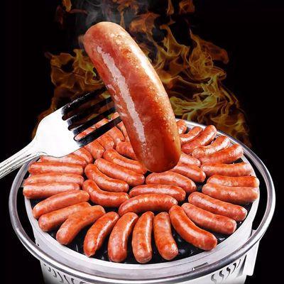 台湾风味纯肉肠火山石烤肠纯肉香肠黑椒地道肠手工烤肠热狗肠批发