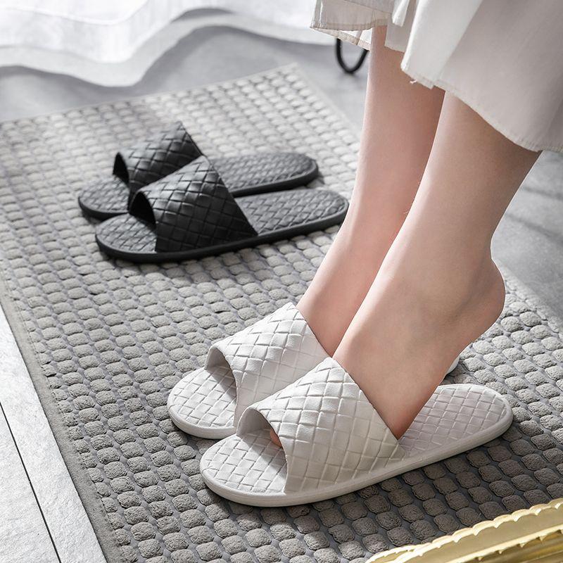 买一送一2双装拖鞋女夏居家用防滑韩版情侣室内浴室洗澡凉拖鞋男
