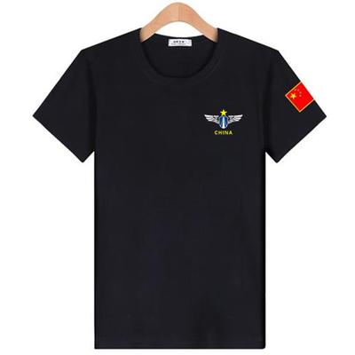 短袖T恤男夏季新款军迷爱国t恤大码宽松中老年爸爸装半截袖打底衫