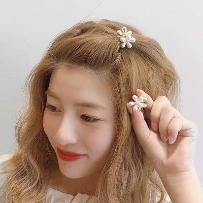 日韩发夹抓夹小雏菊ins网红发绳皮筋发卡边夹少女儿童头饰气质