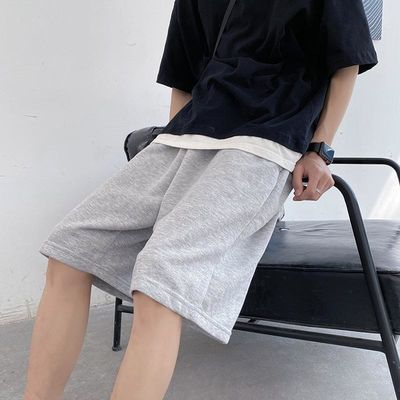 夏季超火ins网红纯色短裤男生潮牌韩版宽松情侣运动休闲五分卫裤
