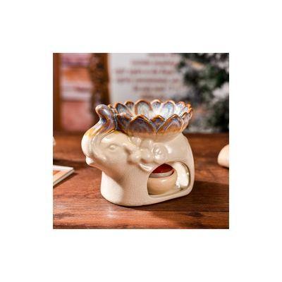 蜡烛精油香薰炉泰式熏香灯炉陶瓷大象大容量香薰灯蜡烛精油炉包邮