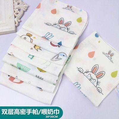 婴儿洗脸巾纯棉纱布小方巾新生儿喂奶巾初生宝宝口水巾宝宝手帕