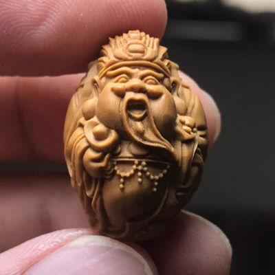 78749/橄榄核财神财神挂坠单子核雕工艺小财神