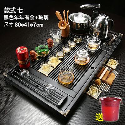功夫茶具套装家用全自动四合一整套陶瓷茶杯茶道简约茶台实木茶盘