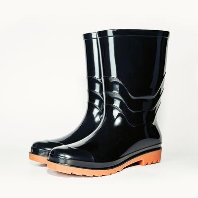 雨鞋男士加厚防滑厨房水鞋劳保牛筋底橡胶鞋长筒雨靴耐磨水靴高筒