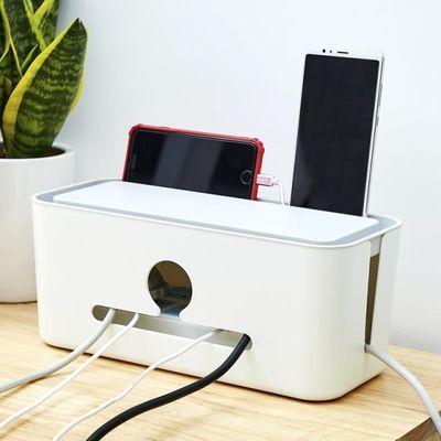插排插线板收纳盒整理线盒子插座集电线藏电脑线神器装饰遮挡排插