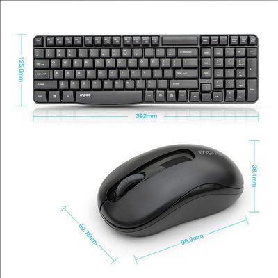 雷柏省电无线键盘鼠标套装X1800S 办公家用台式机笔记本电脑键鼠