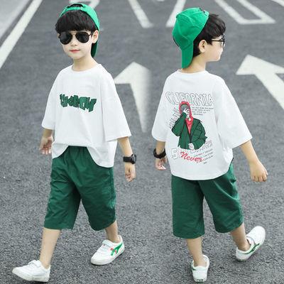 童装套装男童夏装2020新款儿童夏季中大童短袖两件套洋帅气韩版潮