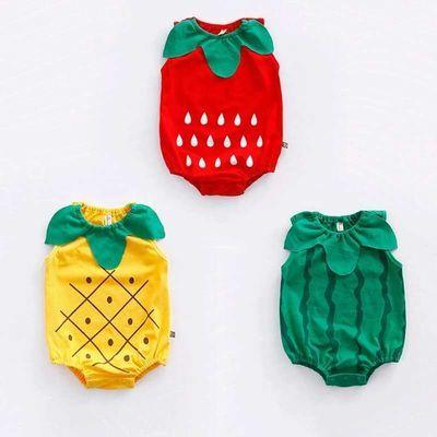 新品宝宝连体衣造型衣夏季婴儿哈衣3-6-12月新生儿爬服拍照服纯棉