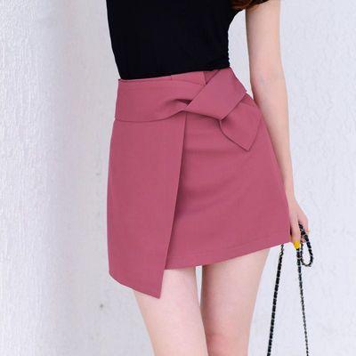 高腰半身裙女夏ins洋气减龄不规则设计感短裙收腰显瘦a字包臀裙子