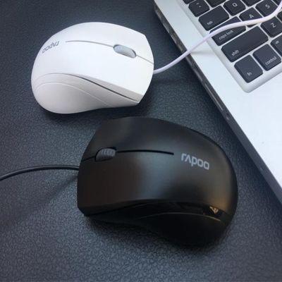 雷柏 有线鼠标 静音游戏办公电脑笔记本USB 商务MAC苹果