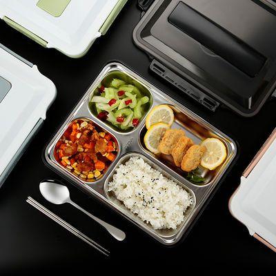 饭盒学生上班族保温餐盒双层分隔微波炉304不锈钢便当盒套装