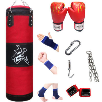 沙袋拳击家用空心实心沙包成人儿童训练散打吊式不倒翁健身器材