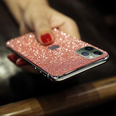 苹果8plus前后膜7手机贴膜iPhone11pro贴纸xsmax闪粉xr保护背
